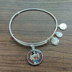 Alex and Ani Wonder Woman charm bangle bracelet